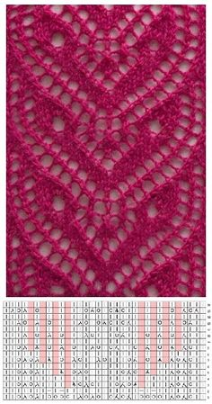 Knitted shawl Ajour