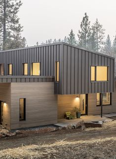 Metal Siding - Panels for Exterior and Interior Walls by Bridger Steel Steel Siding, Steel Cladding, House Cladding, Exterior Cladding, House Siding, House Roof, Facade House, Exterior Siding Options, House With Metal Roof