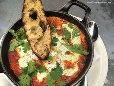#Moroccan baked eggs at #brunch at #Gjelina in #Venice - #LosAngeles