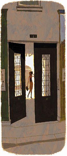 Tadahiro Uesugi Fantasy Illustration, Graphic Illustration, Drawing Scenery, Eagle Art, Japanese Drawings, Black And White Drawing, Art Programs, City Art, Artist At Work