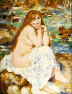 """Seated Bather ""Renoir   1883-1884 Fogg Art Museum, Harvard University, Cambridge, MA"
