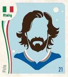 World Cup 2014- figurinhas minimalistas by Barletta, via Behance
