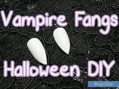 【DIY Tutorial】 Easy & Cheap Vampire Fangs For Halloween ★! (Sub Español) - http://youtube.com/KooriStyle