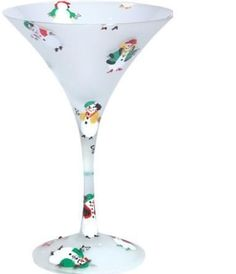 LOLITA MARTINI GLASS~SNOW DIVAS~BRAND NEW IN THE ORIGINAL BOX~RETIRED~ #LOLITAGLASSWARE