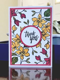 CC795 Floral Thank You by lantana -FS715 at Splitcoaststampers Distress Markers, Copic Markers, Thank You Photos, Stamping Tools, Light Orange, Orange Flowers, Copics, Petunias, Paper Design