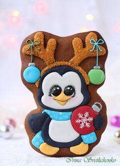 Пряник Новогодний пингвин