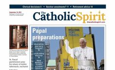 Papal preparations, Syrian refugees, St. Pascal tabernacle stolen, Investigating the supernatural, Sainthood celebration for Blessed Junipero Serra, 102 year old physics teacher at St. Thomas Academy, Quicker annulments?, Clerical decisions, Retirement advice, Family Finances