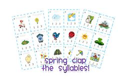 "Spring ""Clap the Syllables"" Activity (free)"