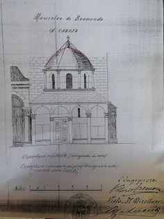 Progetto della modifica della Cupola del  Mausoleo di Boemondo di Canosa di Puglia, 1901, ACS, Roma