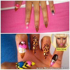 Nicki Minaj nails » Nail Designs & Nail Art