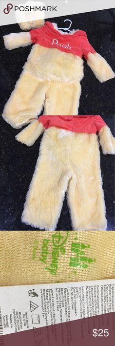 Disney baby Winnie the Pooh costume Worn once and in excellent condition! Comes with hat that has puffy cheeks built in. Tummy is stuffed and is really soft. Disney Costumes Halloween