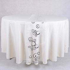 White with Silver Organza Table #Runners  14 inch x 108 inches $2.14