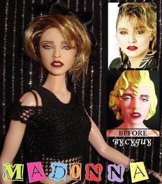 OOAK Madonna Lucky Star Barbie Doll Repaint Reroot Music Video Fashion Royalty | eBay