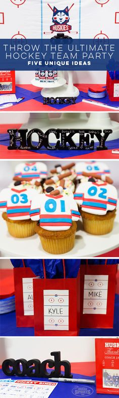 Throw the Ultimate Hockey Team Party with our super fun and easy tips! Includes FREE downloads for Hockey Bingo and Custom Goody Bag Name Tags.