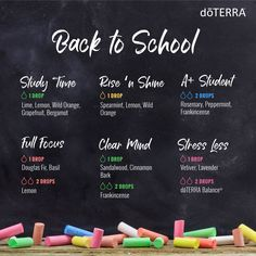 Be ready to hit the books with these school-icious diffuser blends! You can also make roller bottles with these recipes by doubling the drops in the blend, then topping the remainder of the bottle with Fractionated Coconut Oil.