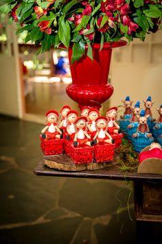 Caixinhas com biscuit - Festa Chapeuzinho Vermelho