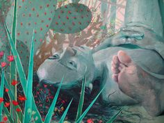 Robin F Williams (American, b. 1984, Columbus, OH, USA) - The Gardeners (detail), 2013 Paintings: Oil on Canvas