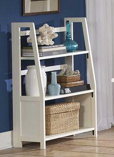 Pottery Folding Bookshelf in White - Homelegance