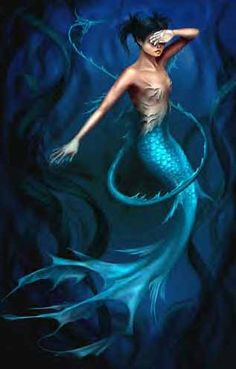 Airbrushed mermaid