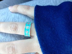 Tiffany & Co. Daisy Ring with Tiffany Blue Enamel (discontinued)