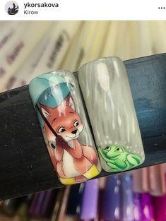 Animal Nail Designs, Animal Nail Art, Fall Nail Art Designs, Toe Nail Designs, Stylish Nails, Trendy Nails, Cat Nails, Disney Nails, Autumn Nails