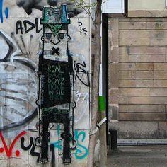 REAL BAD BOYZ MOVE IN SILENCE  by @deuxben_de_rennes #stencil #graffiti #painting #drawing #wheatpaste #pasteup #streetart #streetartbcn #barcelonastreetart #streetartbarcelona #bcnstreetart #streetphotography #streetartphotography #streetarteverywhere in #catalunya #barcelona #bcn #barna by rockaxson