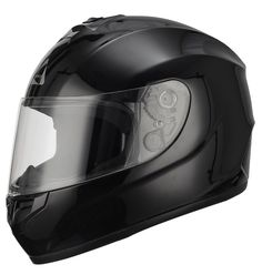 Full Face Black Street Bike Motorcycle Helmet by Triangle [DOT] (X-Large, Glossy Black). Full Face Helmet. DOT Approved. Advanced ABS shell with high pressure thermoplastic technology. Multi Density EPS liner. Ventilation system with top and rear extractors liner. Fully removable, washable and anti-bacterial interior liner.