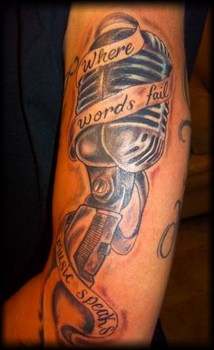 Music Tattoo Sleeves, Music Tattoos, Sleeve Tattoos, Ink Master, Tattoos For Guys, Tatting, Body Art, Season 1, Nice