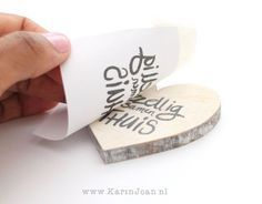 Rub your own texts on wood ? that is very easy. With a Transfer Mark . - Home Decor -DIY - IKEA- Before After Diy Projects To Try, Craft Projects, Ideas Bautizo, Wood Crafts, Diy And Crafts, Diy Art, Diy For Kids, Diy Gifts, Crafty