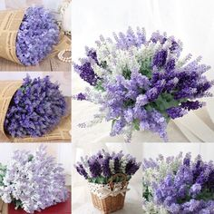1pc Artificial Lavender Fake Silk Flower Home Wedding Floral Decoration Gift New