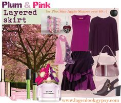 Plus Size over 40 - Plum & Pink