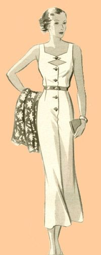 Eva Dress 6222: 1935 Sun Dress Pattern
