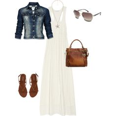 beach casual, created by pinkcrayon23 on Polyvore