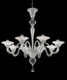 """104/8 clear-white-silver - 8 lights  Finish: 24 K Gold / Chrome   Dimensions: Ø 34"""" H 34"""""""