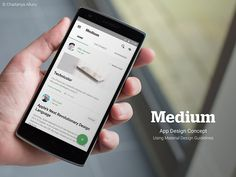 Medium App Design Concept