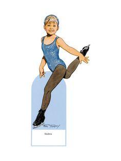 Las Recortables de Veva e Isabel: Little Figure Skater