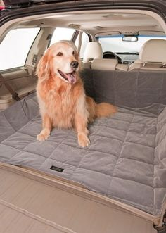 Duragear Velvet SUV Cargo Cover for Dogs & Gear - Soft Velvet Material for a Comfortable Ride with Coated Denier Bottom Making the Cargo Dog Seat Cover Water Resistant - Machine Washable - Available in Sand or Slate Colors - L x W - Cross Peak Products Bucket Seat Covers, Bench Seat Covers, Dog Car Seats, Velvet Material, Slate, Your Dog, Labrador Retriever, Tools, Animals