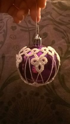 Tatted bauble.