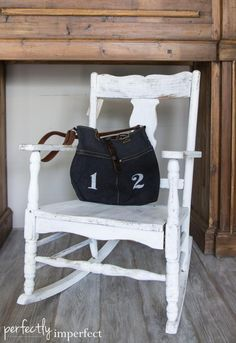 Milk Paint Ironstone Rocking Chair | perfectly imperfect