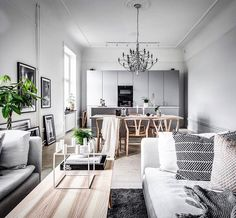 """15.5k Likes, 61 Comments - Design Milk (@designmilk) on Instagram: """"This #home styled by @scandinavianhomes for @ekenstam_fastighetsmaklare has accents of…"""""""