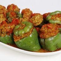 Stuffed bell peppers! Yum!