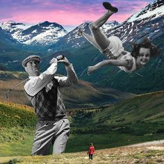 Bad Swing. By. Cane La Statue Of Liberty, Mount Everest, Past, Collage, Mountains, Nature, Travel, Inspiration, Statue Of Liberty Facts