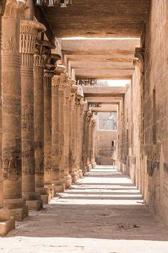 Corridors of Philae Temple,Egypt