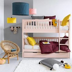 ikea tarva bed painted in dulux picturebook from home beautiful mag nursery 39 s kid 39 s rooms. Black Bedroom Furniture Sets. Home Design Ideas