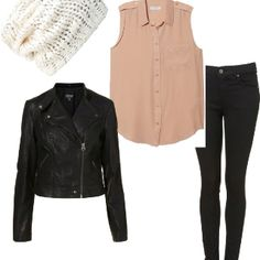 Eleanor Calder Inspired Outfit for a Bonfire with a white beanie