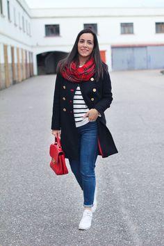 street-style-cuadros-abrigo-militar Outfits Otoño, Look, Style Inspiration, My Style, Womens Fashion, Jackets, Shopping, Cold, Winter Wear