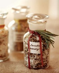 Homemade Food Gifts: Flavored Salt Recipes - Citrus Fennel, Lavendar Rosemary and Peppercorn