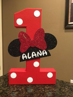 Items similar to Minnie Mouse Custom Name Letters - price is per number on Etsy Minnie Mouse Birthday Decorations, Mickey 1st Birthdays, Minnie Mouse First Birthday, Mickey Mouse Clubhouse Birthday Party, Baby Boy 1st Birthday, Mickey Mouse Parties, Mickey Mouse Birthday, 1st Birthday Parties, Mickey E Minie