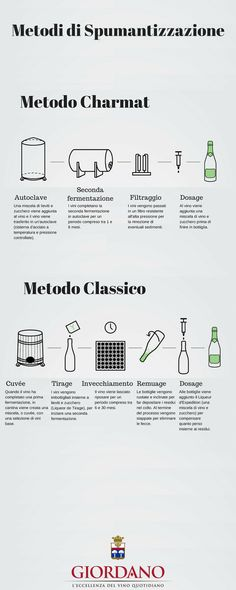 Infografica Metodi di Spumantizzazione | Infographic Methods of Producing Sparkling Wine
