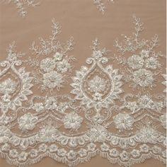 Renda bordada off white - Maximus Tecidos | Loja Online